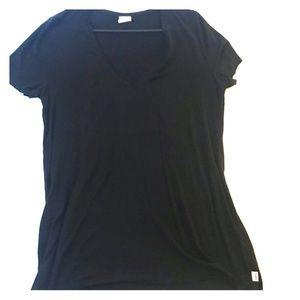 Black Victoria's Secret v neck black tee